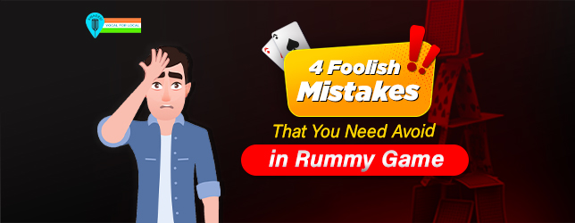 mistake in rummy game