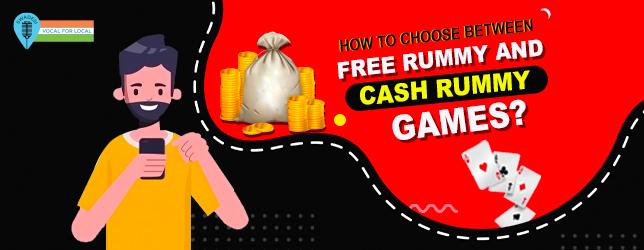 choose between free rummy & cash rummy
