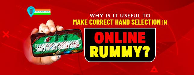 correct hand in online rummy