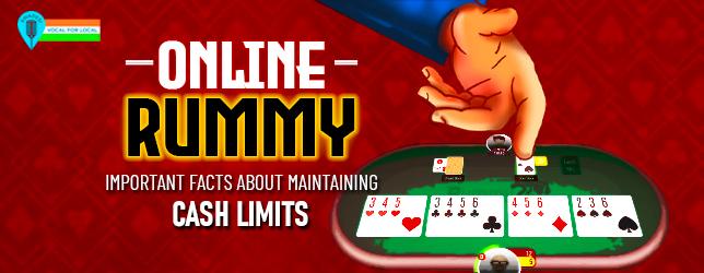 online rummy cash limit