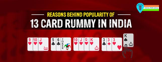 13 card rummy popular india