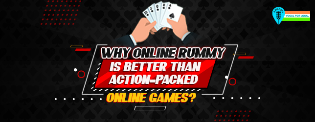 online rummy - action packed games