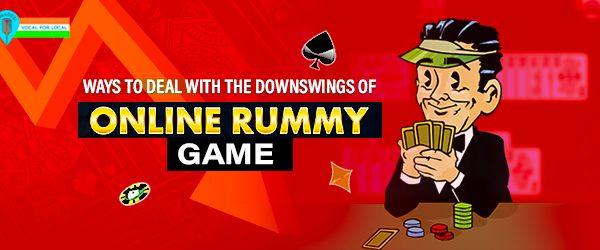 Downswings of online rummy
