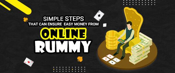 simple steps in online rummy